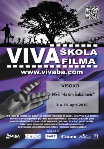 Viva škola filma 2018 polazi iz Visokog