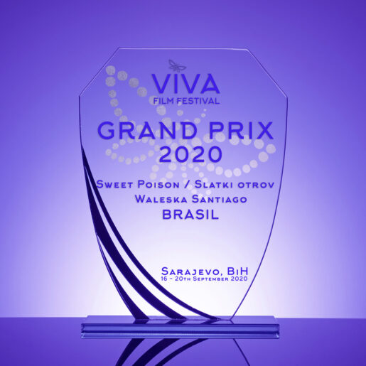 "The Grand Prix for the best film achievement of the 6th International VIVA Film Festival was won by Waleska Santiago from Brazil, for the film ""Sweet Poison"""